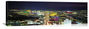Las Vegas, Nevada Night Skyline Panorama Picture