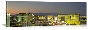 Las Vegas, Nevada Sunset on The Strip Panorama Picture