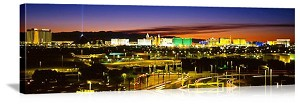 Las Vegas, Nevada Sunset Skyline Panorama Picture
