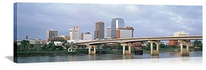 Little Rock, Arkansas Skyline Bridge Panorama Picture