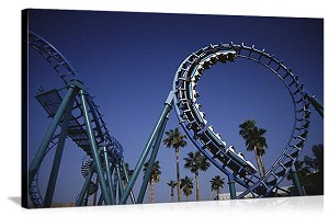 Los Angeles, California  Roller Coaster at Knott's Berry Farm Panorama Picture