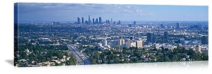 Los Angeles, California Aerial City View Panorama Picture