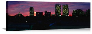 Los Angeles, California Century City Silhouette Panorama Picture