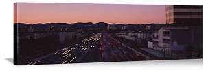 Los Angeles, California Freeway Traffic Panorama Picture