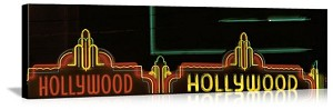 Los Angeles, California Hollywood Neon Sign Panorama Picture