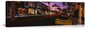 Los Angeles, California Rodeo Drive Streetscape Panorama Picture