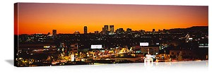 Los Angeles, California Skyline at Dusk Panorama Picture