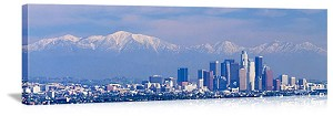 Los Angeles, California Snow in the San Gabriels Panorama Picture