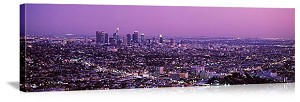 Los Angeles, California City Sunset Panorama Picture