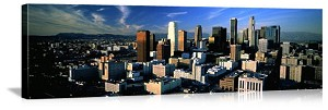 Los Angeles, California Sunset Skyline Panorama Picture