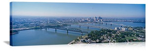 Louisville, Kentucky Aerial Skyline Panorama Picture