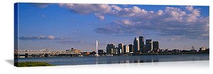 Louisville, Kentucky Riverfront Skyline Panorama Picture