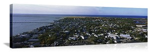 Provincetown, Massachusetts Aerial Skyline Panorama Picture