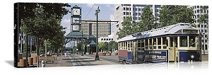 Memphis, Tennessee Court Square Trolley Panorama Picture
