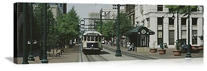 Memphis, Tennessee Main Street Trolley Panorama Picture