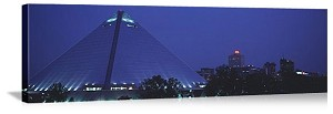 Memphis, Tennessee The Pyramid at Night Panorama Picture