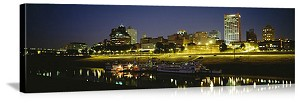 Memphis, Tennessee Riverfront Skyline Panorama Picture