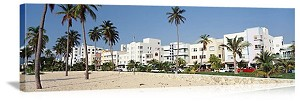 Miami, Florida Art Deco Buildings Panorama Picture
