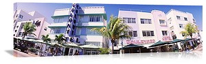 Miami, Florida Hotels on South Beach Panorama Picture