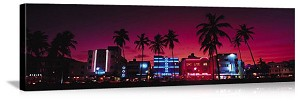 Miami, Florida South Beach Nights Panorama Picture
