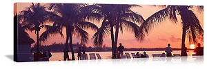 Miami, Florida Sunset on the Beach Panorama Picture