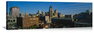 Milwaukee, Wisconsin Downtown Skyline Panorama Picture