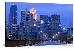 Minneapolis, Minnesota Skyline Spectacular Panorama Picture