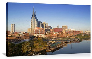 Nashville, Tennenesse Financial District Panorama Picture