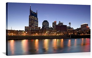 Nashville, Tennenesse Cumberland River Skyline Panorama Picture