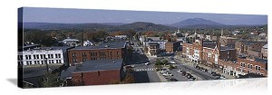 Claremont, New Hampshire Autumn Skyline Panorama Picture