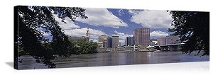 Hartford, Connecticut Riverfront Skyline Panorama Picture