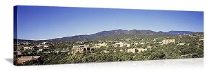 Santa Fe, New Mexico Hillside Skyline Panorama Picture