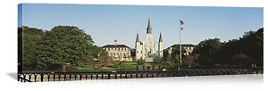 New Orleans, Louisiana Cathedral Grounds Panorama Picture