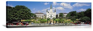 New Orleans, Louisiana Cathedral in Jackson Square Panorama Picture