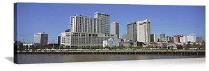 New Orleans, Louisiana  Downtown Riverfront Panorama Picture