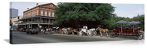 New Orleans, Louisiana Horse Driven Carriages Panorama Picture