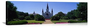 New Orleans, Louisiana St Louis Cathedral Jackson Square Panorama Picture