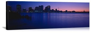 New Orleans, Louisiana Sunset Skyline Panorama Picture