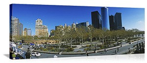New York, New York Battery Park Panorama Picture