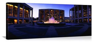 New York, New York Lincoln Center Fountain Panorama Picture