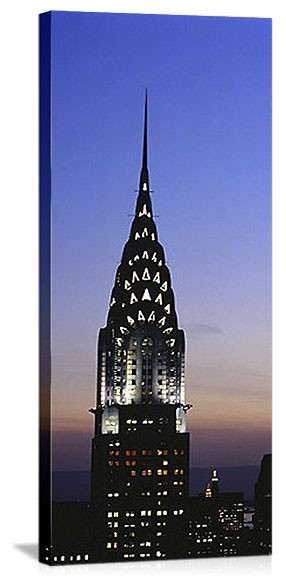 New York, New York Chrysler Building Spire Panorama Picture