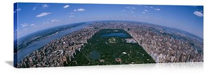 New York, New York Central Park Aerial View Panorama Picture