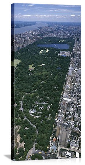 New York, New York Central Park Aerial Panorama Picture