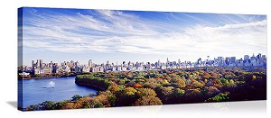 New York, New York Central Park Color Panorama Picture