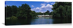 New York, New York Central Park Boating Panorama Picture