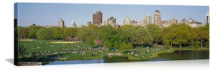 New York, New York Central Park Upper East Side Panorama Picture