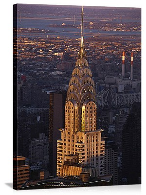 New York, New York Chrysler Building Sunset Panorama Picture