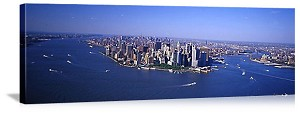 New York, New York Manhattan Aerial Skyline Panorama Picture