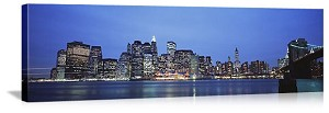 New York, New York Evening in Manhattan Panorama Picture