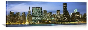 New York, New York Spectacular Manhattan Skyline Panorama Picture